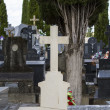 Old cross in a cemetery — Stock Photo