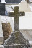 Vecchia croce in un cimitero — Foto Stock