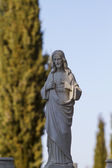Angel statue in a cemetery — Stock Photo