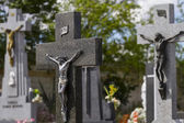 Cemetery detail with stone sculpture — Stock Photo