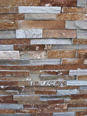 Wall texture, diverse bricks styles — Stock Photo