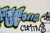 Graffiti on grunge wall — Stock Photo