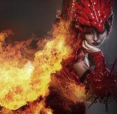 Chica de fuego — Foto de Stock