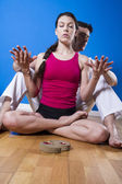 Couple practicing meditation — Stock Photo