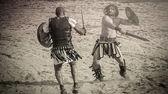 Gladiators fighting — Stock Photo
