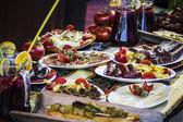 Mediterranean food plates — Stock Photo
