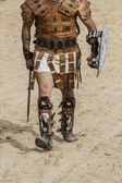 Gladiator fighting — Stock Photo