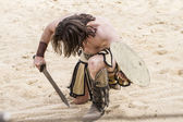 Gladiator fighting — Stock Photo