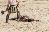 Gladiators fighting — Stock Photo