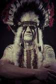 American Indian chief — Stock Photo