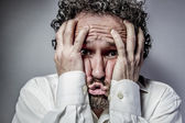 Man with intense expression — Stock Photo