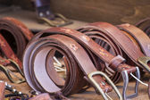 Leather belts — Stock Photo