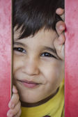 çocuk bir parkta — Stok fotoğraf