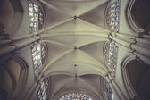 Cathedral interior, gothic style, spanish church — ストック写真