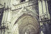 Toledo Cathedral facade, spanish church — Stock Photo
