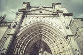 Toledo Cathedral facade — Stock Photo