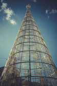 Christmas tree at puerta del sol — Stock fotografie