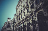 Bank, Image of the city of Madrid — Stok fotoğraf