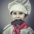 Boy dressed as a cook — Stock Photo #47596151