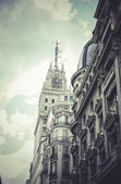 Gran via, Image of the city of Madrid — Stock Photo