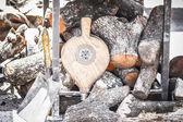 Wood stove — Stock Photo