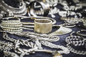 Handmade jewelry shop — Stock Photo