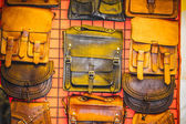 Leather craft stalls — Stock Photo