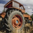 Old agricultural tractor — Stock Photo