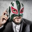 Man in mexican wrestler mask — Stock Photo #49022015