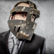 Man in mexican wrestler mask — Stock Photo #49022019