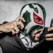Man in mexican wrestler mask — Stock Photo #49022059