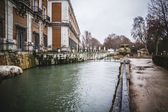 Tajo river way through Palace of Aranjuez — Stock Photo