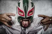 Man in Mexican wrestler mask — Foto Stock
