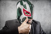 Man in Mexican wrestler mask — Stock Photo