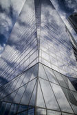 Skyscraper with glass facade — Stock Photo