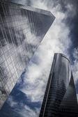 Skyscraper with glass facade — Stok fotoğraf