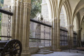 Cloister of the Cathedral of Toledo — Stock Photo