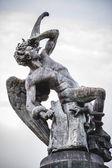 Devil figure, bronze sculpture — Stock Photo