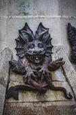 Teufel-figur, bronze-skulptur — Stockfoto