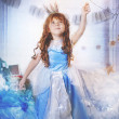 Princess with magic wand — Stock Photo