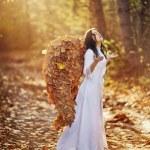 Autumn angel — Stock Photo