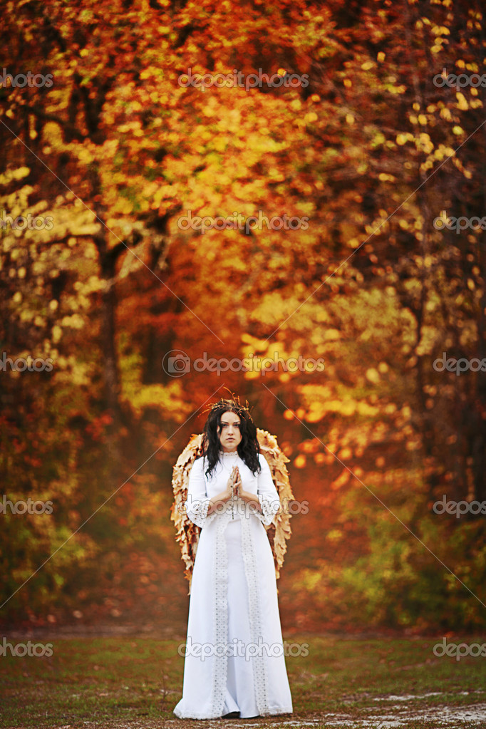 Autumn angel — Stock Photo #14570659