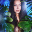 Beautiful girl in the jungle — Stock Photo #16827103