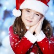 Cute girl and Christmas Tree — Foto de stock #16980899