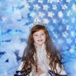 A little girl dressed elegantly played princess — Stock Photo