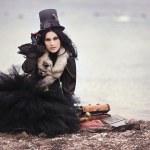 krásný steampunk model — Stock fotografie