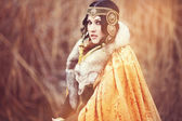 Warrior woman. Fantasy fashion idea — Стоковое фото
