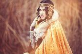воин женщина. фантазии моды идея — Стоковое фото