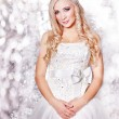 Beautiful blond bride portrait in studio - Стоковая фотография