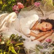 Sleeping forest beauty — Stock Photo